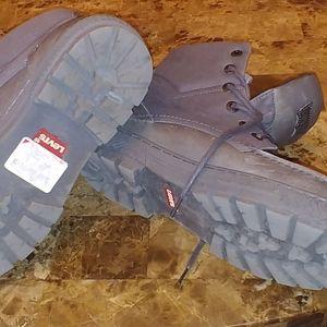 Grey Levi boots size 12